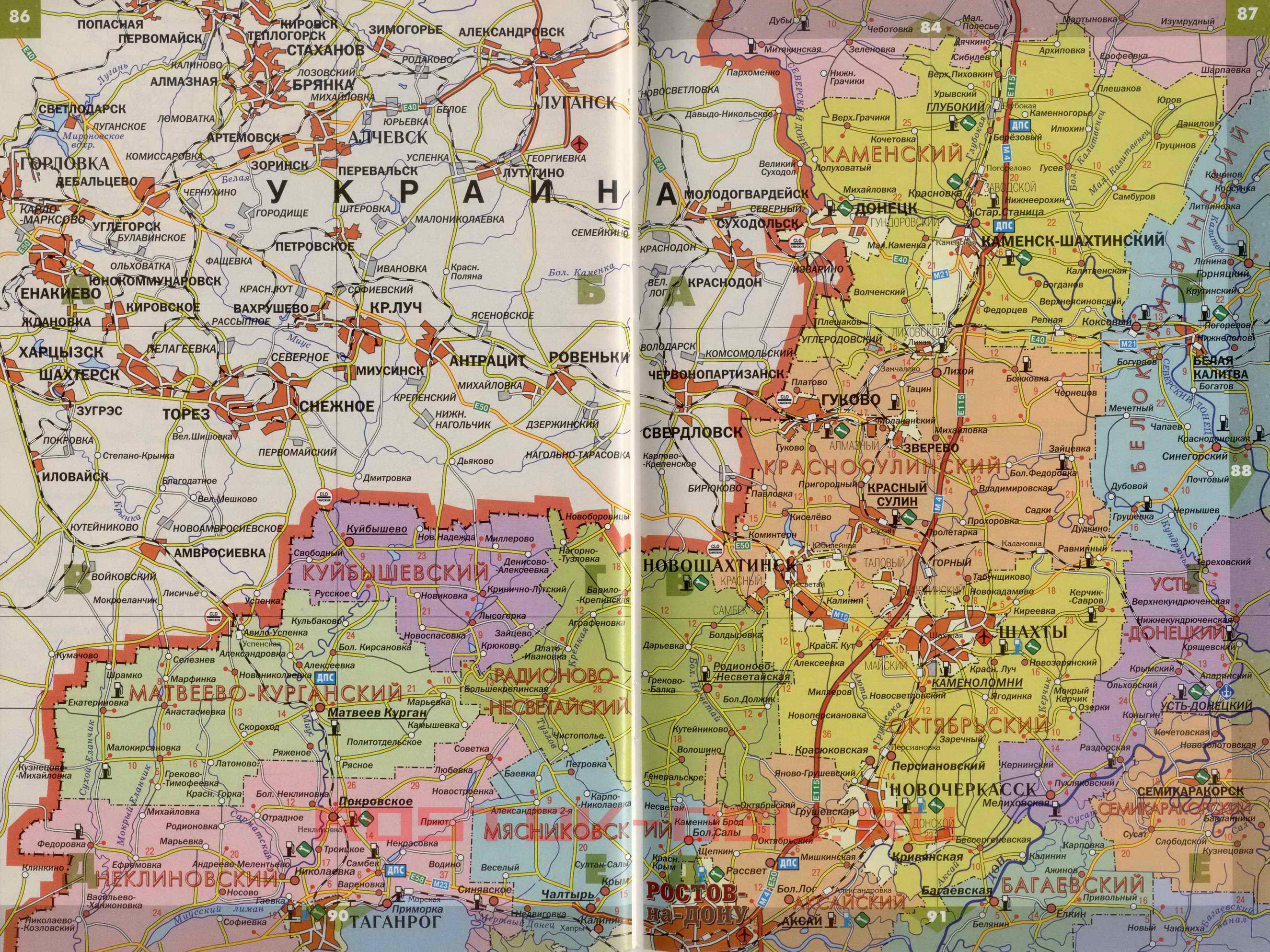 Подробная Карта Автомобильных Дорог Ростовской Области