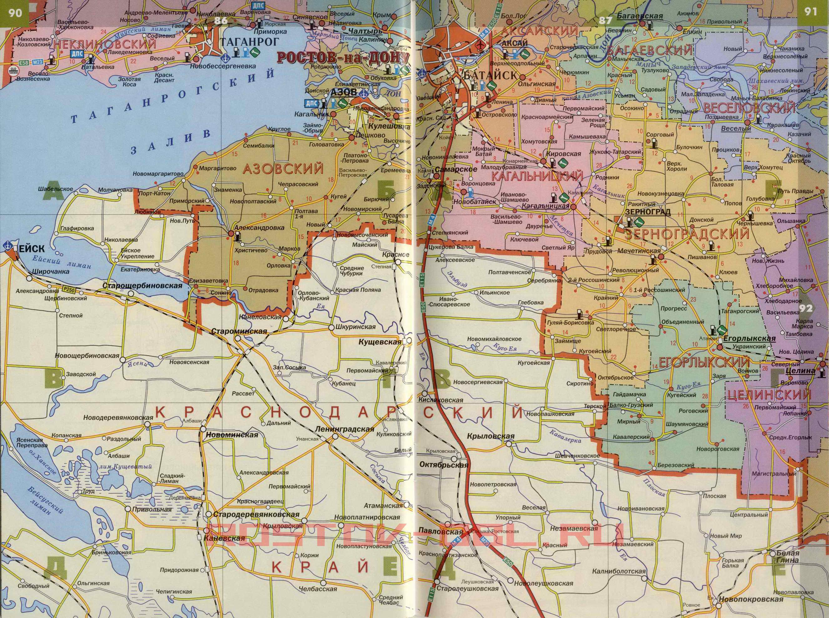 Карты Ростовской Области С Прокладкой Маршрута